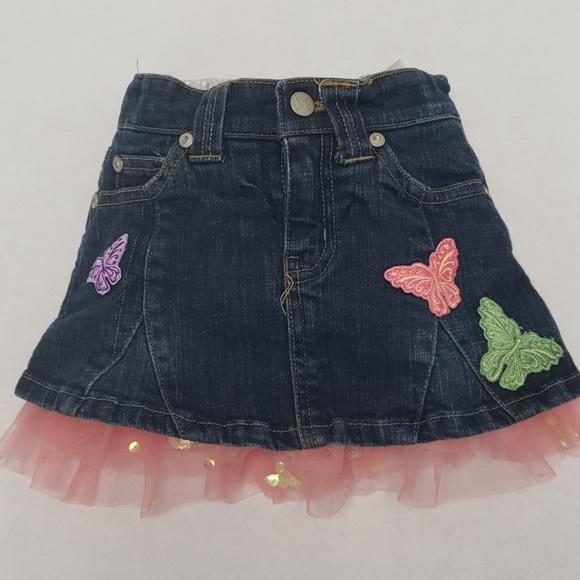 Disney Other - Disneystore Fairies Ruffle Jean Skirt